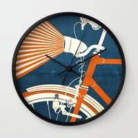 bicycle Wall Clocks featuring Bicycle Light by Fernando Vieira