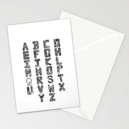 A-Z Alphabet Stationery Cards