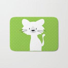 Green cat Bath Mat