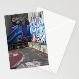 Street Art in a Basketball Court - San Juan, Puerto Rico Stationery Cards
