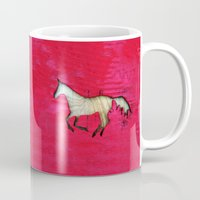 horse Mugs featuring Horse by Brontosaurus