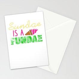 Sundae is a Fundae Stationery Cards