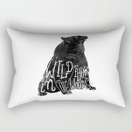 Wild Thing in the Woods Rectangular Pillow