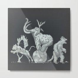 Prehistoric Circus Metal Print