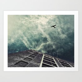 Boston [Sky cut 414] Massachussets, Usa Art Print