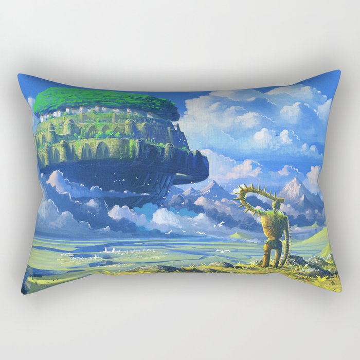 Castle in the sky Rectangular Pillow