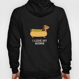 I Love My Weiner Dog - Dachshund Owner Gift Hoody