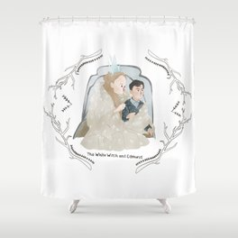 The White Witch and Edmund Shower Curtain