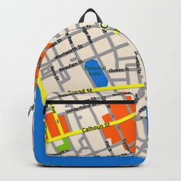Map of Charleston, SC Backpack