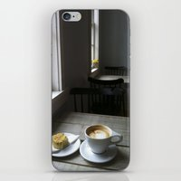 cafe iPhone & iPod Skins featuring CAFE by Rachel Craig