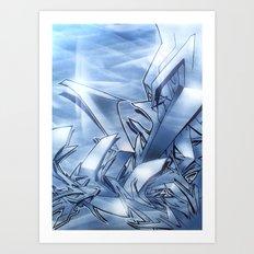 Mystique Blue Art Print