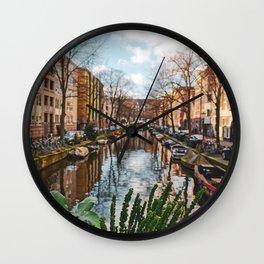 Winter in Amsterdam Wall Clock