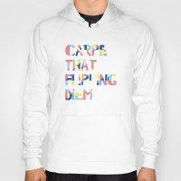 carpe diem Hoodies featuring Carpe Diem by Little Joy Designs
