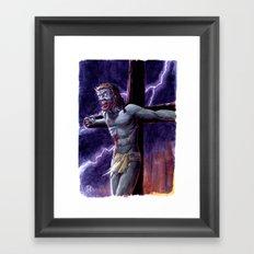 Zombie Messiah Framed Art Print