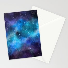 Abstract Galaxy Space Paint Pattern Texture #9 Stationery Cards