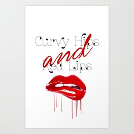 Curvy Hips And Red Lips Art Print