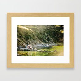 Local Bolivian Women on Isla Del Sol on Lake Titicaca, Bolivia Framed Art Print