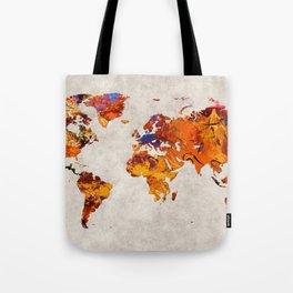 World Map 58 Tote Bag