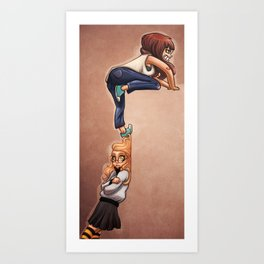 Invisible wall Art Print