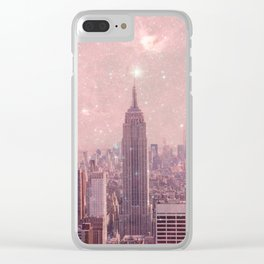 Stardust Covering New York Clear iPhone Case