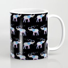Henna Mandala Luck Elephant Pattern Coffee Mug