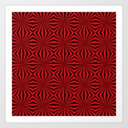 Red Abstract Modern Pattern Art Design Art Print