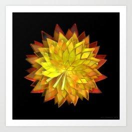 Autumn Leaves: Composition 4 Art Print