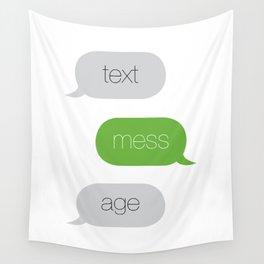 Text Message Pop Art Print Wall Tapestry