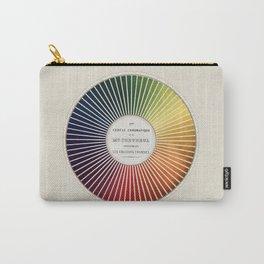 Chevreul Cercle Chromatique, 1861 Remake, vintage wash Carry-All Pouch