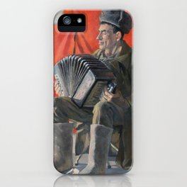 Russian Man Playing Accordion iPhone Case