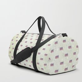 American Flag Aglow, stars in the dawn's early light, pattern Duffle Bag