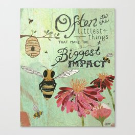Honeybees May Be Little Canvas Print