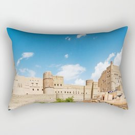 Omani Fort 3 Rectangular Pillow