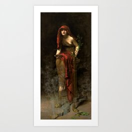 "John Collier ""Priestess of Delphi"" Art Print"