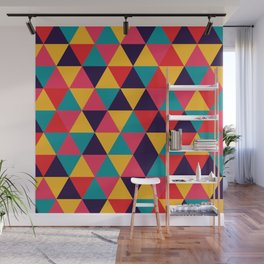 Colorful Triangles (Bright Colors) Wall Mural