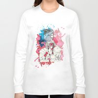 marie antoinette Long Sleeve T-shirts featuring Marie Antoinette by Phie Hackett