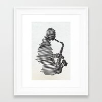 jazz Framed Art Prints featuring jazz  by Zuhal Arslan