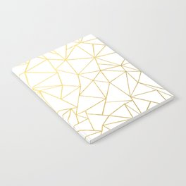 Ab Outline White Gold Notebook
