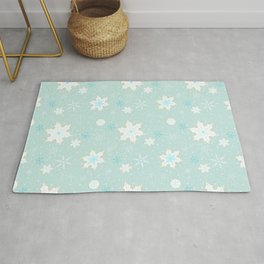 Snowflake Cookies - Aqua Rug