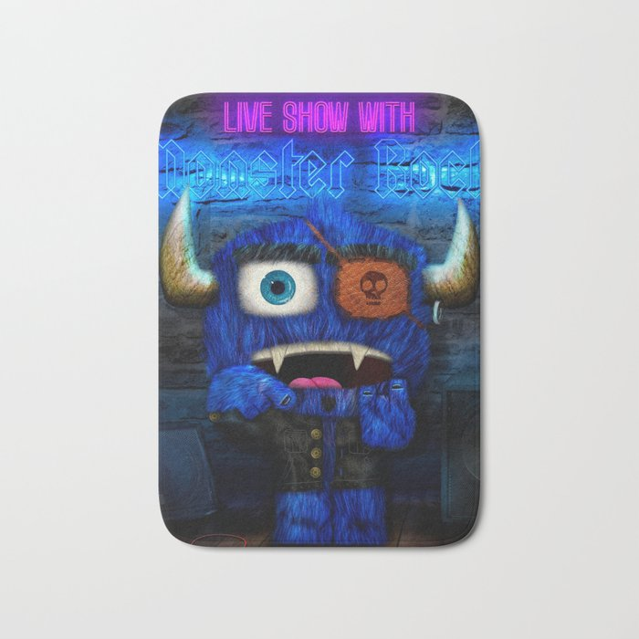 Monster Rock Show Bath Mat