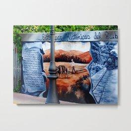 History on the wall @ Rincon Metal Print