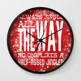 Christmas Jingle All The Way Wall Clock