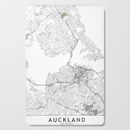 Auckland White Map Cutting Board