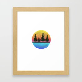 A day in the woods Framed Art Print
