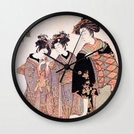 The Courtesan Nishikigi Wall Clock