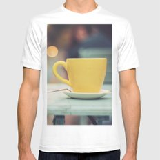 The yellow cup MEDIUM White Mens Fitted Tee