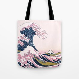 The Great Pink Wave off Kanagawa Tote Bag