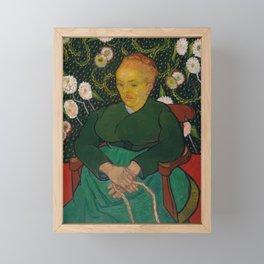 Vincent van Gogh - La Berceuse (Woman Rocking a Cradle; Augustine-Alix Pellicot Roulin, 1851–1930) Framed Mini Art Print