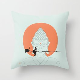 Buddha : Make Love! Throw Pillow