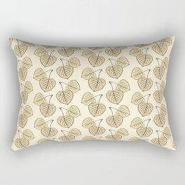 Dry Aspen Leaves in Squares Rectangular Pillow